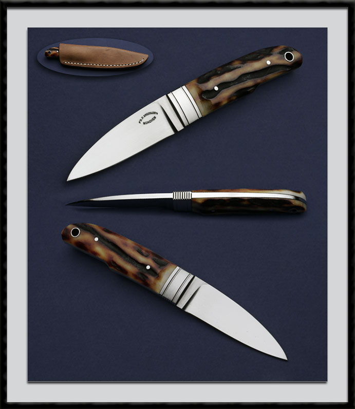 Fluted Bolster Knife: RCK Custom Made Knives By D. F. Kressler